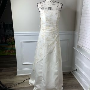 Sue Wong strapless embellished sequin wedding gown